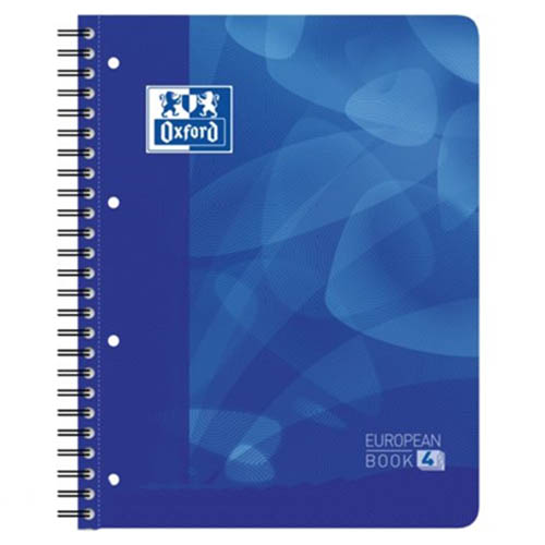 Oxford | notitieboek Oxford Projectbook    210x297mm A4 gelijnd 120vel 90gr spiraal -4gaats blauw