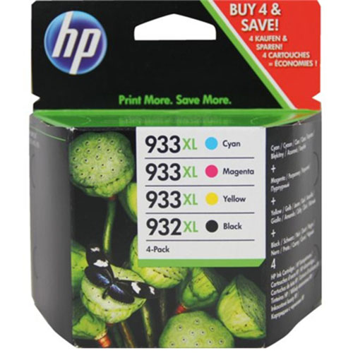 inkcartridge HP 932XL + 933XL BK - C - M - Y