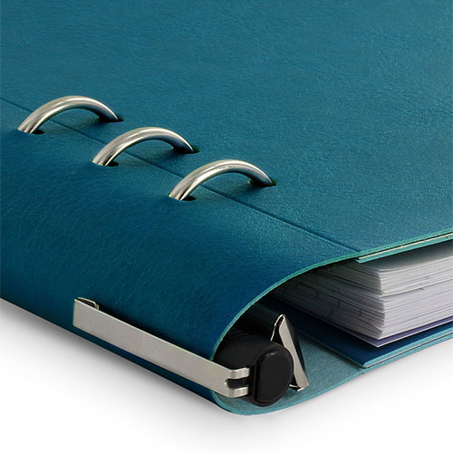 Filofax | notitieboek Filofax Clipbook A5 Bright Petrol Blue